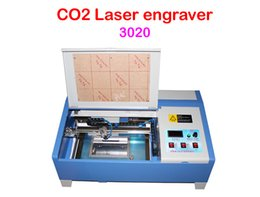 Wholesale Freeshipping W CO2 Digital laser engraving cutting machine LY with Honeycomb board
