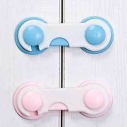 Hot Sale 4Pcs pack Baby Safety Lock Cabinet Door Drawers Refrigerator Toilet Child Lock Protection Baby Proofing Plastic Latch VT0274