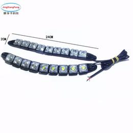 2pcs Strip shape COB Bendable led Daytime Running light 100% Waterproof COB Day Lights flexible 10 LED Car DRL