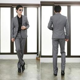 Wholesale Slim Fit Man Suits Lounge Suit Groom Tuxedos Best Man Wedding Groomsman Suit Prom Suits Jacket Pants