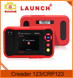 Wholesale Lunch Professional Creader Diagnostic Auto code Scanner Global Version for ABS SRS Transmission Engine OBD2 OBDII Code Scanner CRP123
