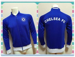 Wholesale New Product Thailand Chelsea Blue Jacket clothes out tracksuit coat Football Suit Training Shirt soccer Jersey Jacket