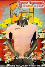 2017 camisetas de fútbol de color rosa JOMA PALERMO equipo profesional uniformes fútbol fútbol jersey hombres adultos polo rosa cuello cuello camiseta camiseta ropa seca rápida económico camisetas de fútbol de color rosa