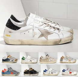Wholesale 2016 New Golden Goose Superstar Shoes Men Woman Low Cut Shoes Genuine Leather White GGDB Shoes Scarpe Uomo Di Marca Casual Sports Shoes