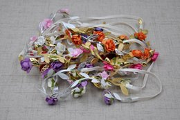 Wholesale Floral Bow Baby Headband with Small Flowers Gold Silver Leaf and Trendy Hair Crown Accessories Newborn Photography Props QueenBaby