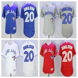 Wholesale New Josh Donaldson Jerseys Toronto Blue Jays Baseball Jerseys Blue Red Gray Josh Donaldson Cool Base Stitched Jersey