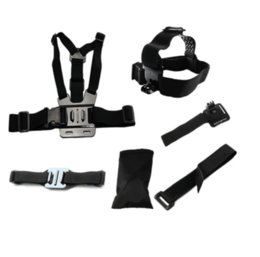 Wholesale Coyote Sports Camera accessories kit Hero4 Sj4000 Accessories Set Chest Belt Head Band Wrist Strap Bags for pro hero4 Xiaomi Yi SJCAM Mount
