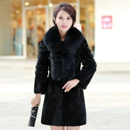 Wholesale 2016 new fox fur collar Rex rabbit fur coat beautiful woman in a long fur to sell a variety of colors and more specifications real fur