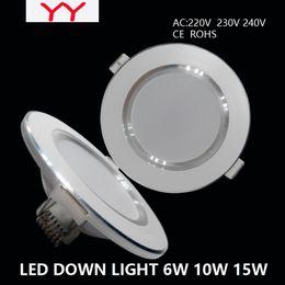 Wholesale Thin LED Downlight W W W Embedded Ceiling Grille Lamp V V V Cold white Warm white