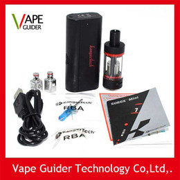 Kanger Subox Mini Starter Kit 50W Clone OCC RBA Coil Subtank Mini KBOX Variable Wattage Box Mods E cigs kangertech vaporizer Kits