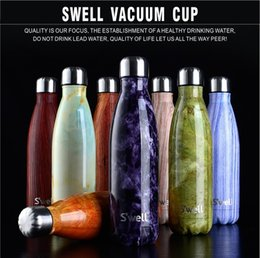 Wholesale Swell Thermos Vacuum Flask Expansion Bottle of Water Bottle Coffer Cup Sports Kettle Vacuum Marble Texture Flask Bottle