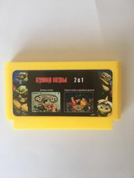RUSSIAN 2017 new 8bit game cartridge classical game card one hot sale -2 IN 1 (yellow cart)