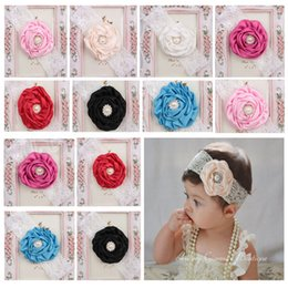 Lovely Kids Baby Girl Headbands Toddler Cute Lace Pearl Flower Headband Hair Band Headwear
