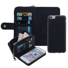 PU Leather Zipper Handbag Wallet Purse with Card Slot Phone Case Cover for iPhone 6 6S 6 Plus 5S 5G SE Phone Bags