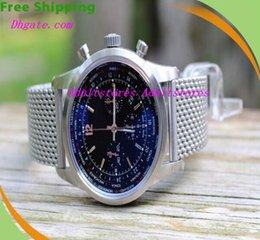 Wholesale Luxury Wristwatch Equipped Original Box Brand BB Transocean Unitime Pilot Racer Satin Bracelet AB0510 Men s Dress Watches