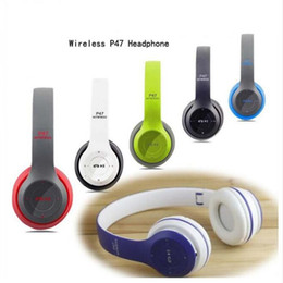 Wholesale P47 Bluetooth Headphone Wireless Original Stereo Soundproof Headset Active Noise Cancelling Bluetooth Headphones ForiPhone S HTC LG