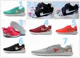 Wholesale Roshe Run Women Men Brand Printing Running Shoes Classical Lightweight London Olympic Athletic Outdoor Sneakers US Eur Size