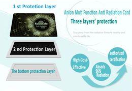 wholesale manufacturer Radisafe anti Radiation card EMF protection card Bio negative ion Card Scalar Energy Card 5pcs lot fee shiping
