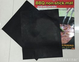 Wholesale PTFE Non stick BBQ Grill Mat Barbecue Baking Liners Reusable Teflon Cooking Sheets cm Cooking Tool