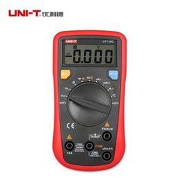 Wholesale UNI T UT136C Digital Multimeter Auto Range Thermometer Tester AC DC LCD Ammeter Voltmeter Current Freq Ohm Test Lead Probe