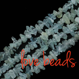 Wholesale Arrival mm Natural Aquamarine Stone Gravel Loose Chip Beads Strand quot For F00299