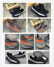 Wholesale Official high quality boots Seasons SPLY new sply v2 boost Kanye West SPLY Boosts V2 big orange streak across Y3 Boost