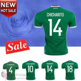 Wholesale Copa America Mexico soccer jerseys Uniforms CHICHARITO home green G DOS SANTOS R MARQUEZ C VELA thai quality football shirts
