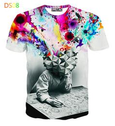 2016 men hip hop t shirt 3d animal printed lion head t shirt mens 3d t-shirt