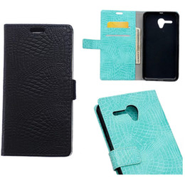 "For Alcatel One Touch Pop 3 5.5"" Alcatel I DOL 3 5.5 Crocodile Skin PU Leather Wallet Case"