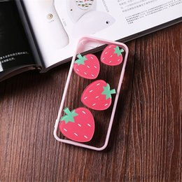 Transparent Cartoon Cell Phone Cases Watermelon Bow Strawberry Monkey Phone Covers for iphone 6s 6 Plus 5s 54