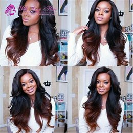 Indian virgin hair natural wave wavy 130% density lace front wig & glueless full lace wig free shipping