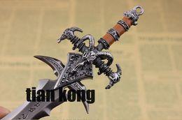 sword head model espada Metal Keychain Model Toy Craft gift 22cm