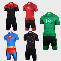 2015 Hero Series Cycling Jersey Spider-man  Captain America  Iron Man Bike Clothes Short Sleeve Summer for Men Cycling Clothing Shorts Set