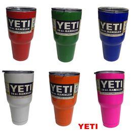 Wholesale Best sell YETI oz Cup Cooler YETI Rambler Tumbler For Travel Vehicle Beer YETI Mug Tumblerful Bilayer Vacuum Insulated Stainless Steel