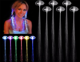 Luminous Light Up LED Hair Extension Flash Braid Party girl Hair Glow by fiber optic For Party Christmas Halloween Night Lights Decoration D