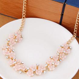 Collier Femme Fashion Choker Necklace Women Flower Necklaces & Pendants Link Chain Necklace Bijoux Crystal Statement Necklace