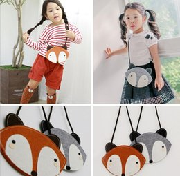 2 Color children Fashion cartoon fox wallet new baby girl cute fox bag fox purse Handbag wallet 12*17Cm