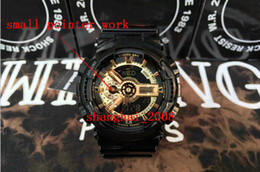 Wholesale aaa qualtiy men luxury Black gold men s sports watches festina GA110 analog watch and digital watch small pointer work