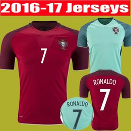 Wholesale best thai quality Portugal Soccer Jerseys Euro Cup Coentrao J Moutinho Ronaldo Nanl football shirts