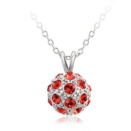 Wholesale Snow Korean Fashion - New Fashion Korean Snow Ball clavicle Pendant Necklaces For Women Jewelry 18K Gold   Platinum Plated Austrian Crystal Necklace