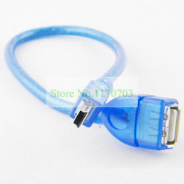 80 pcs 30CM USB Female to Mini 5p Male Connector For Car USB MP3 Player