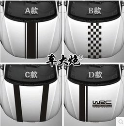 Wholesale WRC bar cruze automobile hood personality sticker label garland scratches front cover stick head scratching
