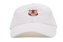 free shipping 2016 Kanye West Ye Bear Dad Hat Lovely Cut Baseball Cap Summer For Men Women Snapback Unisex Exclusive Release Limited Tan