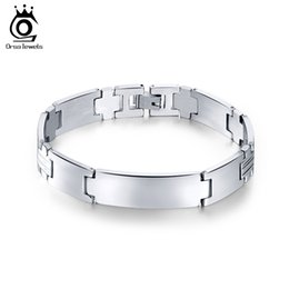 Fashion Men Jewelry High Polished Stainless Steel Personality Bracelet Simple Design Male Bangles Fashion Jewelry GTB32