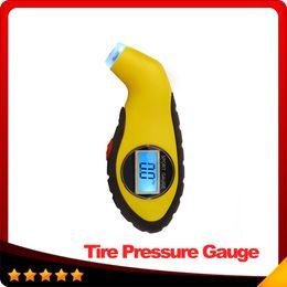 Wholesale Car Air Digital Tire Pressure Gauge Electronic Manometer Tyre Vacuum Motorcycle Pressure Diagnostic Tools LCD Car Accessories