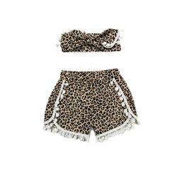 Animal cheetah printed baby girls short ,Pom girls short top knot headband toddler outfit ,little girls short with headband set
