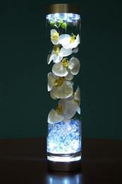 Battery Operated 4inch LED Light Base With 9pcs Super Bright White LED Light For Under Vase Lighitng Wedding Decor 10pcs  lot Free Shipping