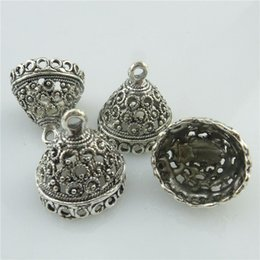 Wholesale 18450 X Antique Filigree Connector Tassel Bead End Cap Hollow Garland Pendant