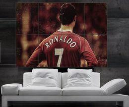 CR7 Cristiano Ronaldo Real Madrid and Portugal Poster print wall art 8 parts giant hug free shipping NO161