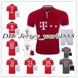 Wholesale best quality Bayern Munich Home RD soccer Jersey Kits VIDAL COATA LEWANDOWSKI MULLER ROBBEN BOATENG ALABA Away Football Shir